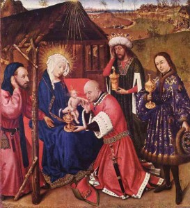 Adoration of the Christ Child by the Three Kings - Jacques Daret, ca 1403