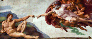Hand of God Giving Life to Adam - Michelangelo's fanciful imagination at work in the Vatican's Sistine Chapel, 1508-1512